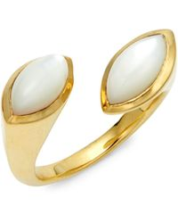 Ippolita Prisma 18k Yellow Gold & Marquise Mother-of-pearl Bypass Ring - Multicolour