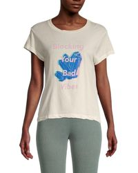 Wildfox Women's Blocking Bad Vibes T-shirt - Vintage Lace - Size S - Multicolour
