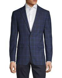 Calvin Klein - Slim-fit Windowpane Wool-blend Sportcoat - Lyst