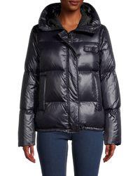 KENZO Hooded Down Puffer Jacket - Black