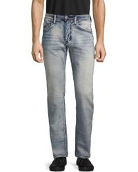 Buffalo David Bitton Evan Bleached Slim Stretch Jeans - Blue