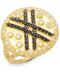 Adriana Orsini Cubic Zirconia Rosetone Crisscross Bracelet - Multicolour