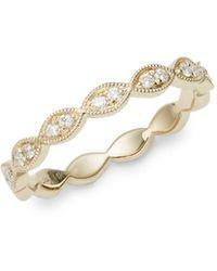 Saks Fifth Avenue 14k Yellow Gold & Diamond Band Ring - Metallic