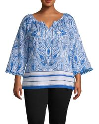 Rafaella - Plus Graphic Cotton Top - Lyst