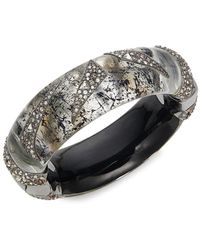 Alexis Bittar Women's 10k Gunmetal-plated, Lucite & Crystal Bangle Bracelet - Metallic