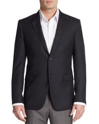 Theory Regular-fit Xylo Np Wool Suit Separates Sportcoat - Blue