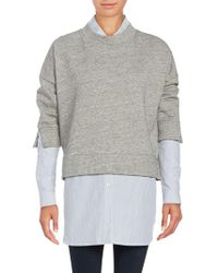 French Connection - Cotton-blend Heather Pullover - Lyst