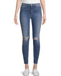 Joe's Jeans - Charlie Metallic Striped Ankle Jeans - Lyst