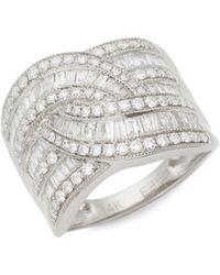 Effy 14k White Gold & White Diamond Ring