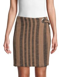 Free People - Its A Wrap Cotton Skirt - Lyst