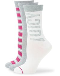 Juicy Couture 3-pack Assorted Crew Socks - White