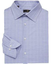 Ike Behar Regular-fit Graph Check Dress Shirt - Blue