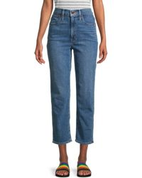 Madewell Classic Straight Cropped Jeans - Blue