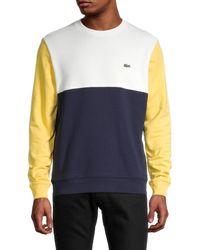 Lacoste Men's Colorblock Sweatshirt - Navy - Size 5 (l) - Blue