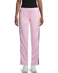 Kappa Logo-taped Track Pants - Pink