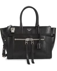 Zadig & Voltaire Women's Medium Candide Leather Top Handle Bag - Black