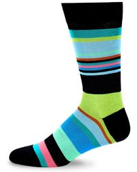 Bugatchi - Colorblock Crew Socks - Lyst