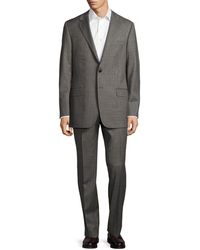 Hickey Freeman Milburn Ii Classic Fit Textured Wool Suit - Grey
