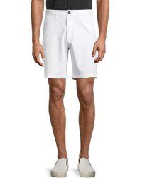 Michael Kors Men's Flat-front Stretch Shorts - White - Size 36