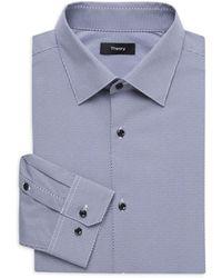 Theory Cedrick Print Dress Shirt - Blue