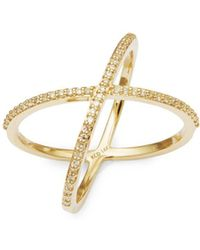 KC Designs - X Diamond And 14k Gold Ring - Lyst