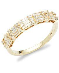 Saks Fifth Avenue Women's 14k Yellow Gold & Diamond Ring/size 7 - Size 7 - Metallic