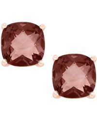 Effy June Smoky Quartz 14k Rose Gold Stud Earrings - Multicolour