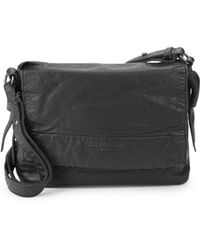 Liebeskind Berlin Flap Leather Shoulder Bag - Black