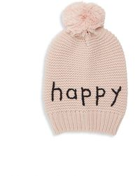 Hat Attack - Happy Motto Knit Beanie - Lyst
