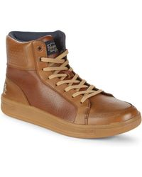 Original Penguin - Beckin Leather High-top Sneakers - Lyst