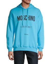 Moschino ! Logo Regular-fit Hoodie - Blue