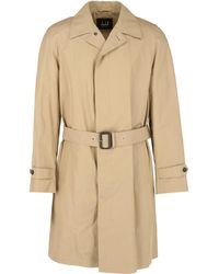 Dunhill Belted Concealed Button Trench Coat - Brown
