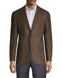 Hickey Freeman - Plaid Long-sleeve Sportcoat - Lyst