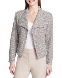 Calvin Klein - Textured Fly Away Open-front Jacket - Lyst
