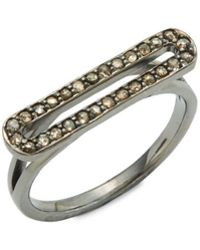 Bavna - Champagne Diamond And Sterling Silver Ring - Lyst