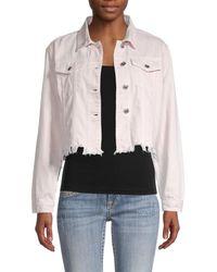 Vigoss Women's Cut-off Denim Jacket - Blush - Size S - Multicolour