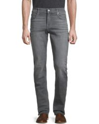7 For All Mankind Men's Slimmy Clean Slim-fit Straight Jeans - Welles - Size 32 - Grey