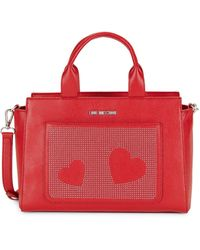 Love Moschino Borsa Faux Leather Satchel - Red