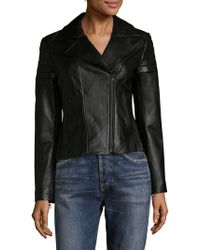 SOIA & KYO - Panelled Leather Moto Jacket - Lyst