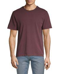 Vince Short-sleeve Cotton Tee - Purple