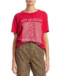 R13 Joy Division T-shirt - Red