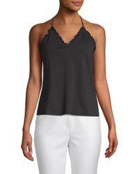 Rebecca Taylor - Sleeveless Vintage Cotton Jersey Top - Lyst