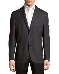 Saks Fifth Avenue Wool Jacket - Grey