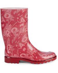 Ferragamo Farabel Logo Rain Boots - Red