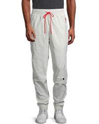 PUMA Men's Parquet Drawstring Pants - Grey - Size L