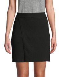 Free People Ribbed Mini Skirt - Black