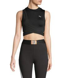 PUMA Crossover Cropped Top - Black