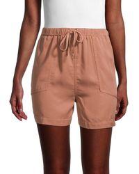 Dress Forum Women's High-waist Drawstring Shorts - Desert Sand - Size S - Natural