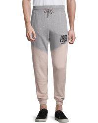 PRPS Men's Flatonia Dip-dye Jogging Trousers - Heather Grey - Size Xxl