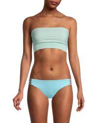 Pilyq - Smocked Bandeau Bikini Top - Lyst